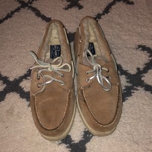Shearling Lined Sperry Topsider